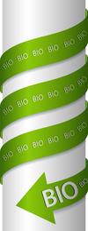 Green Indicates Threedimensional Label 04 Vector