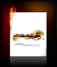 Flecha quemando diseño de papel