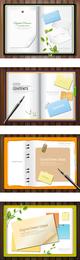 Notas de papel que el vector