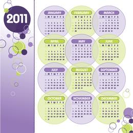 2011 Vector Calendar Template Vector