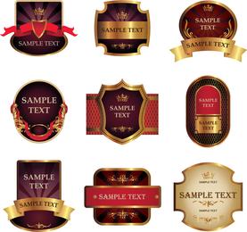 Aufkleber und Aufkleber-Wein-Vektor 3