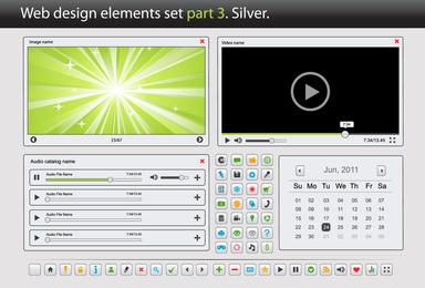 Web Design Elements Vector 3