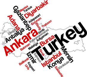 Vetor de território nacional turca 03