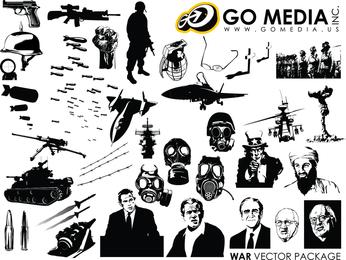 Ir Tema de guerra de vetor de mídia produzido