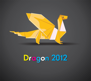 Origami Dragão 02 Vector