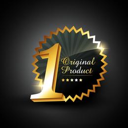 Gold Badge Labels 04 Vector