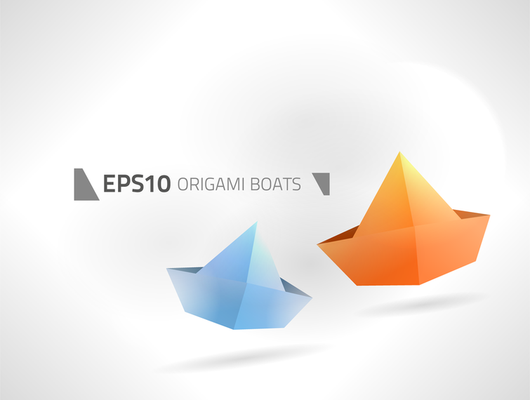 Paper Boats Vector