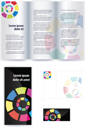 Delicate Leaflets And Booklets 01 Vector