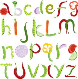 Letras diferentes 03 Vector