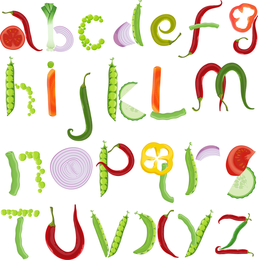 Verschiedene Buchstaben 03 Vektor