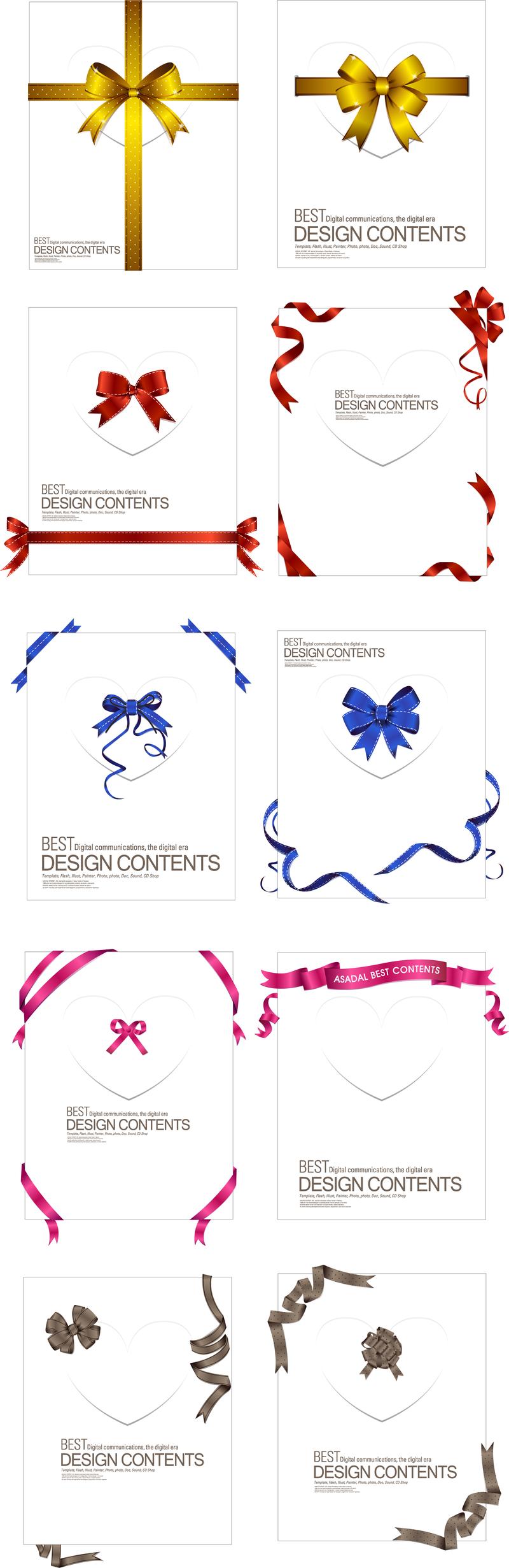 Una colección de exquisitas cintas 02 Vector