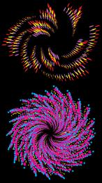 Design de matriz colorida