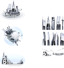 Commercial Highrise Buildings Vector