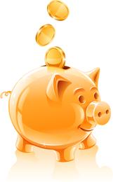 Tema de dinheiro de vetor