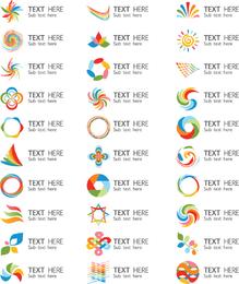 Un conjunto de hermosos gráficos vectoriales Logo