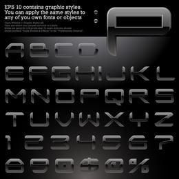 Variedade De Efeitos Vector Alfabética