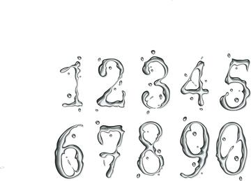 Number Of Water Drops Texture Vector