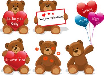Amor para el oso de peluche clip art