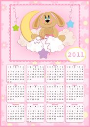 Lovely 2011 Calendar Poster Vector