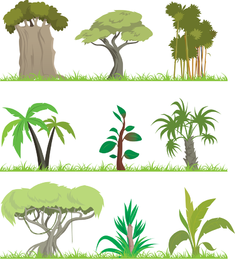 Trees Theme Vector 2
