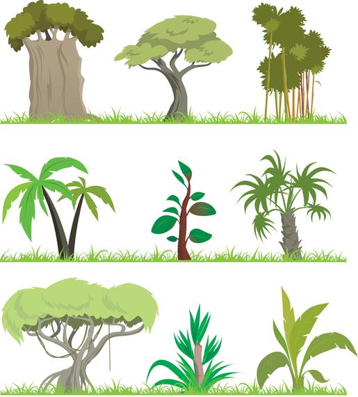 Vetor de tema de árvores 2