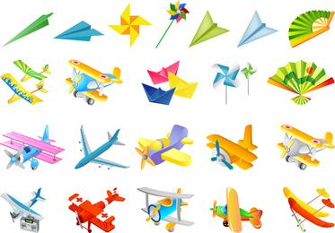 El segundo vector de juguetes para niños
