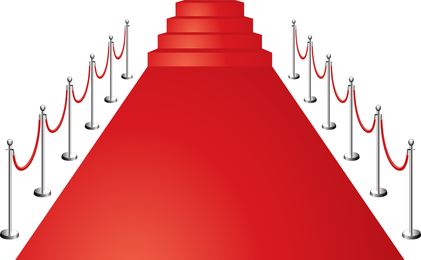 Beautiful Red Carpet Vector