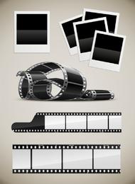 Equipo fotográfico vectorial