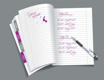 Open Notepad Vector 3