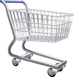 Vetor de carrinho de compras de supermercado