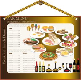 Menu de restaurante Design 02 Vector