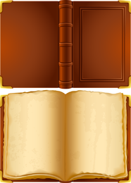 Open book and covers illustration