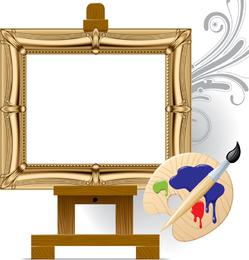 Arte de cavalete de placa de desenho vetorial