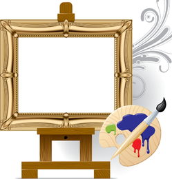 Vector Drawing Board Easel Art