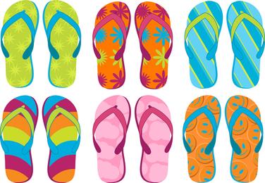 Summer Sandals 02 Vector