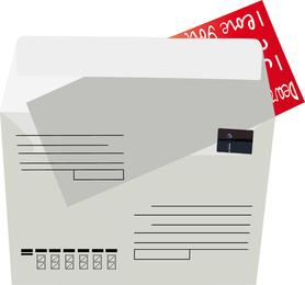 Nostalgie-Umschläge und Papier-Vektor 02