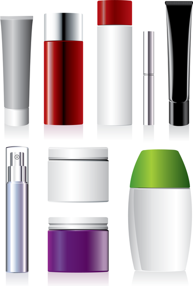Cosmetic Containers 04 Vector