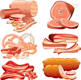 Vector Sausage Meat