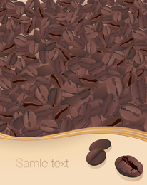 Vector de granos de café y café posters