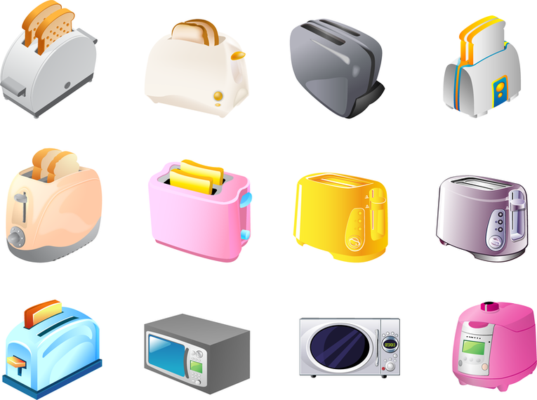 Toaster Microwave Rice Cooker Vector