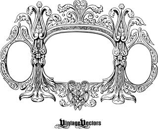 Diseño de marco detallado en blanco y negro