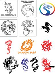 Colección de vectores de dragón