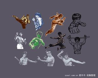 Kung Fu Character Series Vector