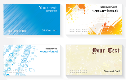 Moda de vetor de cartão simples