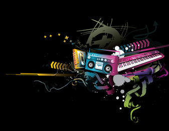 Música Vector Fashion Design