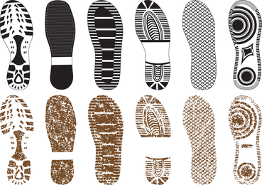 A Variety Of Fine Shoe Print 02 Vector