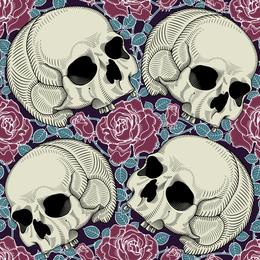 Vector de tema de cráneo de tendencia