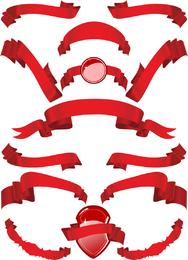 Several Red Ribbon Ribbon Clip Art