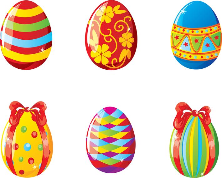 Huevos de pascua coloridos ilustraci n vectorial - Videos de huevos de pascua ...