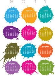 Calendário para ilustração vetorial de 2011